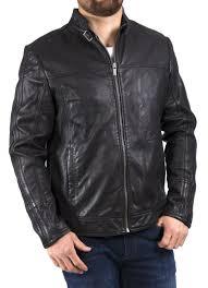 black leather biker jacket eddie leather biker jacket in black leather jackets men