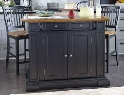 Stationary Kitchen Islands Amazon Com Home Styles 5003 948 Kitchen Island With Stool Black