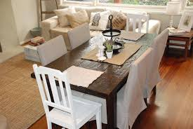 Large Dining Room Chair Covers Gorgeous Brown Ikea Dining Chair Covers Paired With Small Square