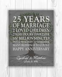 25 year anniversary ideas personalized 5th 15th 25th 50th anniversary gift wedding engagement