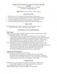 Examples Of Functional Resumes by Skills Resume Examples
