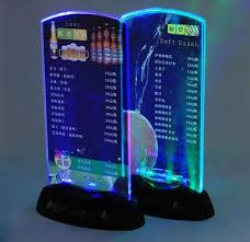restaurant table top display stands best restaurant hotel bar ktv night club led table menu display