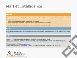 Business Intelligence Vision Statement Exles by Why Mission Vision Values Are Also Important For The Marketing