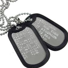 Personalized Dog Tag Necklaces Personalized Custom Military Dog Tag 2 Matte Necklace