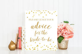 to be cards advice for to be cards sign printable sign bridal