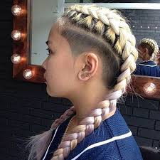 half shaved with braids different and amazing hairstyles with sides shave hairzstyle com