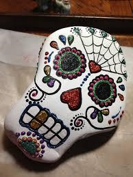 great shape for a skull dia de los muertos crafts pinterest