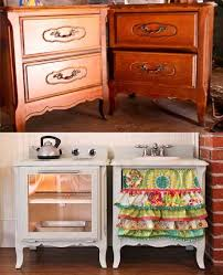 play kitchen from furniture how to make a play kitchen set out of a pair of nightstands diy
