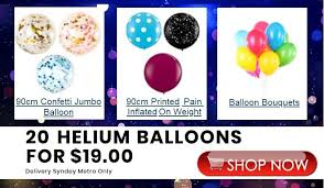 inflated helium balloons delivered pin by sydney party shop on helium tank hire sydney