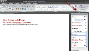 how to import adobe indesign styles in ms word designeasy