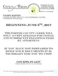 porter county in official website clerk