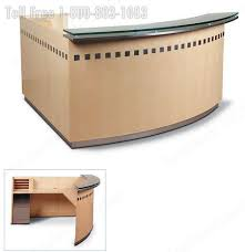 Curved Reception Desk Reception Station Desk U0026 Lobby Furniture Oak Walnut Maple Cherry