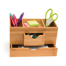 Desk Organizer Bamboo Three Tier Desk Organizer In Desktop Organizers