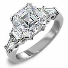 cz engagement ring 15 best asscher engagement rings asscher wedding sets asscher