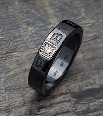 bvlgari black rings images Authentic bulgari bvlgari black ceramic diamond ring band sz 54 jpg