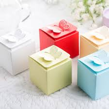 wedding cake boxes free shipping 50pcs butterfly style favor gift candy cake boxes