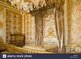 royal bedroom in palais de versailles paris france stock photo
