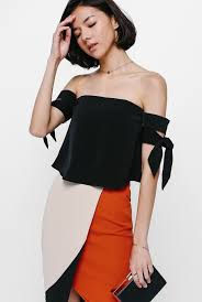 Shoulder Top - neloda knotted shoulder top tops clothing