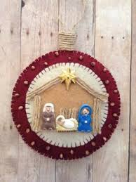felt nativity ornament no tutorial but easy enough to make on my