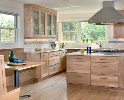 Natural Wood Cabinets Houzz - Natural kitchen cabinets