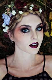 gothic makeup for vampire zombie or dead flapper look halloween