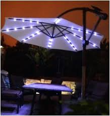 offset patio umbrella with led lights magnificent led patio umbrella in lights solar powered writers