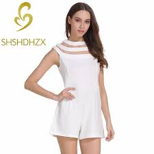 white jumpsuits white jumpsuits for summer romper mesh stitching