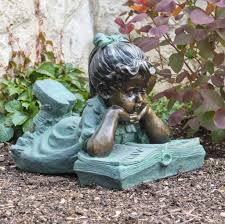 fairy garden statues outdoor reading garden statue garden statues to enhance