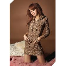 fashion women u0027s leopard dress hoodie mini dress sweatshirts double