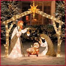 lighted outdoor nativity lighted outdoor christmas decorations sale unique outdoor