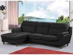 canapé d angle cuire canapé d angle cuir ronald 4 places noir angle gauche avis