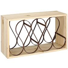 shop for the wood u0026 metal wine rack by ashland at michaels
