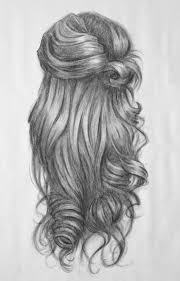 how to draw curls pic of wavy and curly head back side cool