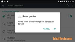 reset android to default reset audio profiles settings in android lollipop