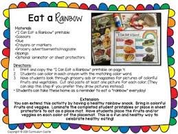 healthy eating u0026 nutrition i can eat a rainbow freebie by