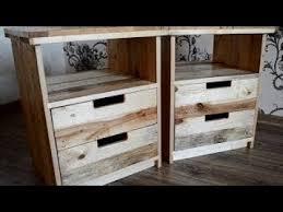 diy industrial nightstand reclaimed pallet wood youtube