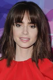 hairstyles bob with bangs medium length 33 best medium hairstyles celebrities with shoulder length haircuts