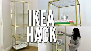 Diy Ikea Ikea Hack Gold And White Marble Diy Ikea Vittsjo Shelf Unit