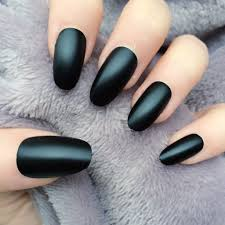nail designs for kids 14 oval nails black black matte oval