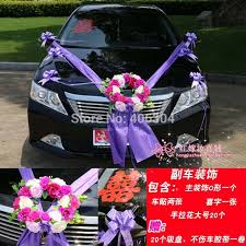 How To Decorate A Wedding Car With Flowers Car Flowers Decoration Decorative Flowers