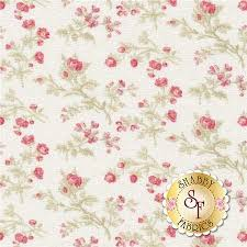 Shabby Chic Quilting Fabric by 3 Sisters For Moda 3 Sisters Favorites In China White Shabby