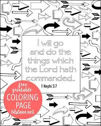 10 primary coloring pages images lds primary
