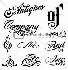image 3497268 ornate cursive ornaments different text from