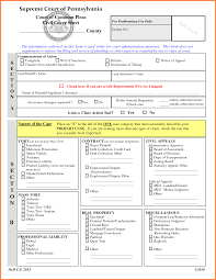 Civil Action Cover Sheet by Divorce Application Format Sales Report Template