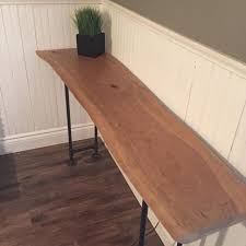 Cherry Wood Sofa Table by Best Handmade Cherry Wood Live Edge Console Sofa Table For Sale In