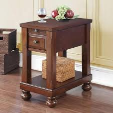 end table with outlet tei occasional tables 7948 chairside table with power outlet end