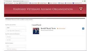alumni website software siwiec harvard veterans alumni association