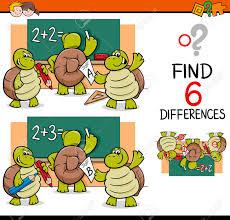 imagenes educativas animadas ilustración de dibujos animados de encontrar diferencias actividad