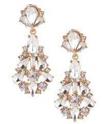 statement earrings badgley mischka jonette chandelier statement earrings dillards