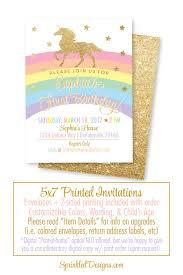 unicorn birthday invitation cards girls magical unicorn
